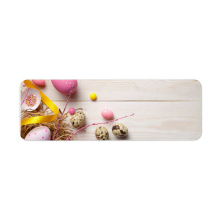 Etiqueta Fundo da páscoa com ovos da páscoa