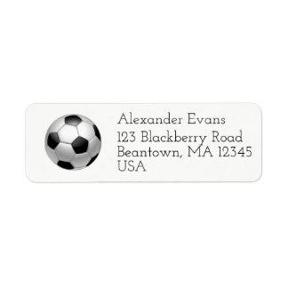 Etiqueta Futebol preto e branco