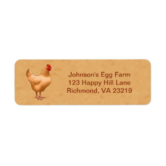 Etiqueta Galinha amarela da galinha de Orpington