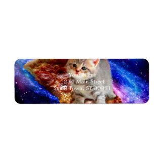 Etiqueta gato da pizza - gatos bonitos - gatinho - gatinhos