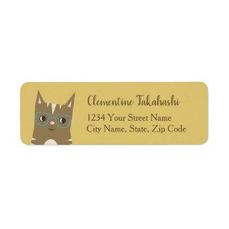 Etiqueta Gato de gato malhado com vidros