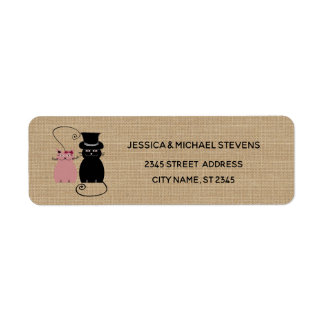 Etiqueta Gatos engraçados bonitos adoráveis dos desenhos