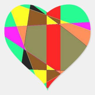 Etiqueta geométrica do coração do pensamento