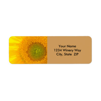 Etiqueta Girassol floral amarelo