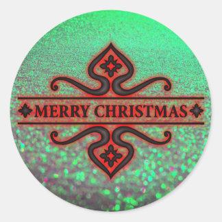 Etiqueta Glittery bonita do Feliz Natal