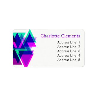 Etiqueta Golpe colorido profissional geométrico moderno
