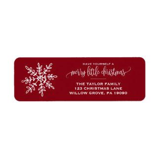 Etiqueta Grande Natal vermelho do floco de neve
