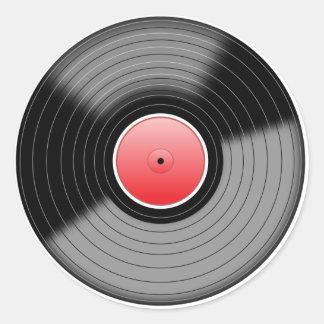 Etiqueta gravada LP clássica do vinil
