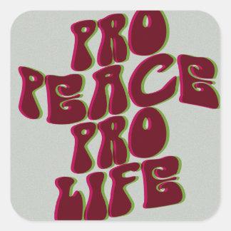Etiqueta Groovy da Pro-Vida da Pro-Paz