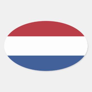 Etiqueta holandesa do Oval da bandeira Adesivos Em Formato Ovais