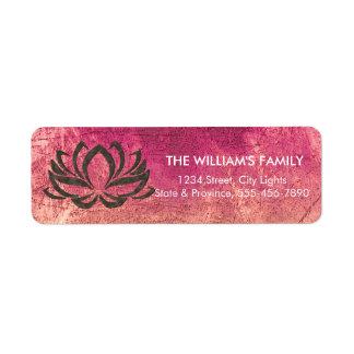 Etiqueta Holístico floral da meditação da ioga da flor de