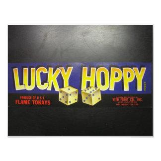 Etiqueta Hoppy afortunada Convites Personalizado