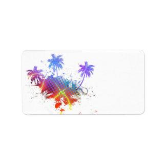 Etiqueta Ilustração colorida das palmeiras