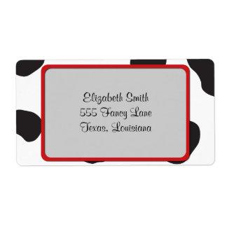 Etiqueta Impressão animal (impressão), pontos da vaca da