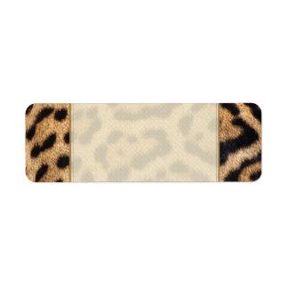 Etiqueta Impressão da foto da pele de Jaguar