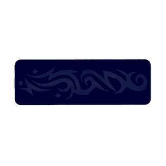 Etiqueta Impressão TRIBAL do DESIGN seu próprio selo da