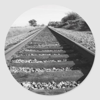 Etiqueta infinita da estrada de ferro adesivos em formato redondos