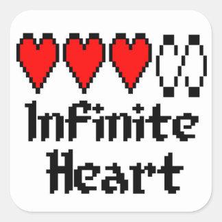 Etiqueta infinita do coração