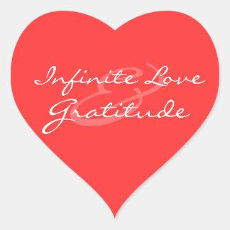 Etiqueta infinita do coração do amor & da adesivo coração