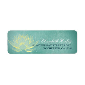 Etiqueta Instrutor elegante da mediação da ioga de Lotus do