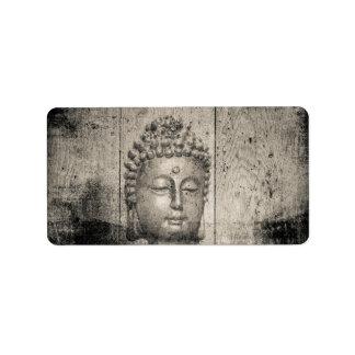Etiqueta Ioga do budismo de Buddha do vintage
