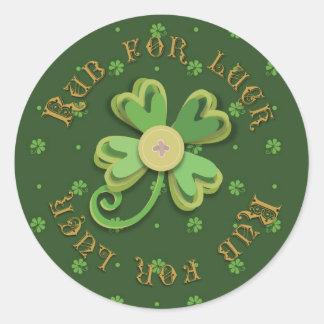 Etiqueta irlandesa B da sorte Adesivos Em Formato Redondos