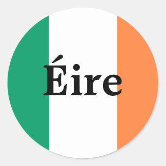 Etiqueta irlandesa da bandeira