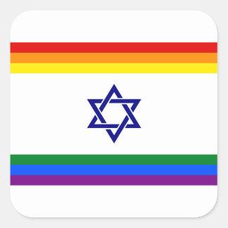Etiqueta israelita extravagante do orgulho