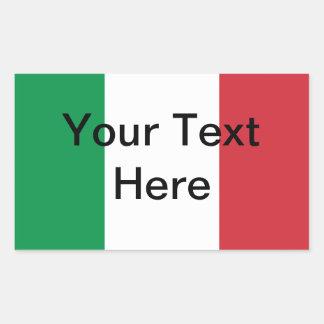 Etiqueta italiana da bandeira - Customizeable Adesivo Retangular