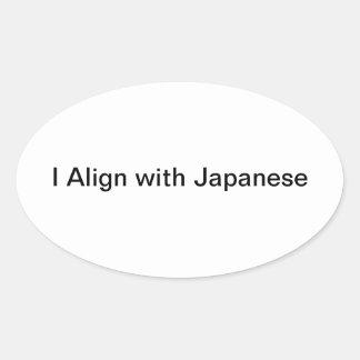 etiqueta japonesa adesivo oval