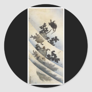 Etiqueta japonesa antiga da arte adesivos