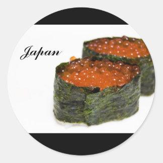 Etiqueta japonesa adesivos redondos