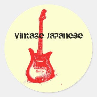 Etiqueta japonesa da guitarra do vintage adesivo