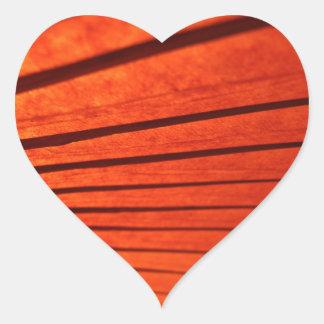 Etiqueta japonesa vermelha tradicional do coração