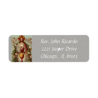 Etiqueta Jesus com o Eucaristia & o cálice