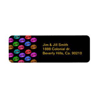Etiqueta Lábios coloridos corajosos do batom de Pouty