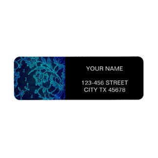 Etiqueta Laço gótico dos azuis marinhos do Victorian