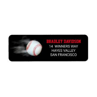 Etiqueta Lance o editável do basebol da bola personalizado