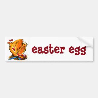 etiqueta larga dos desenhos animados do ovo da adesivo para carro