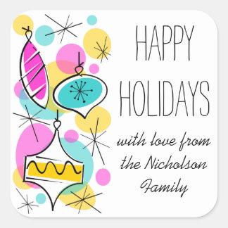 Etiqueta lateral do texto dos feriados dos Baubles