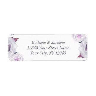 Etiqueta Lavanda & endereço do remetente floral cinzento do