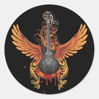Etiqueta legal da guitarra do vôo