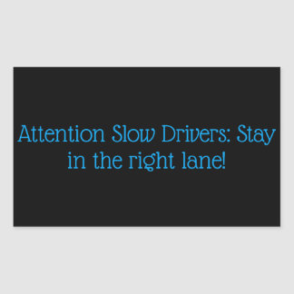 Etiqueta lenta dos motoristas
