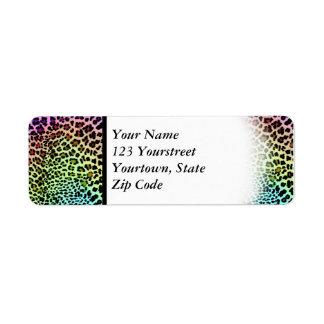 Etiqueta Leopardo do arco-íris