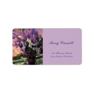 Etiqueta Lilacs em uma janela por Mary Cassatt