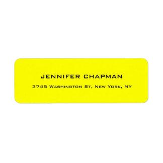 Etiqueta Limão profissional elegante liso moderno - amarelo