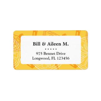 Etiqueta Limões amarelos brilhantes teste padrão tirado do