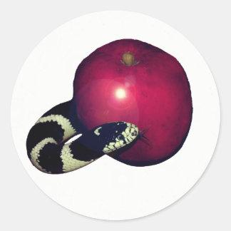 Etiqueta lisa da árvore de Apple Jesse da serpente