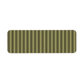 Etiqueta Listra dobro preta de tiquetaque do colchão Khaki