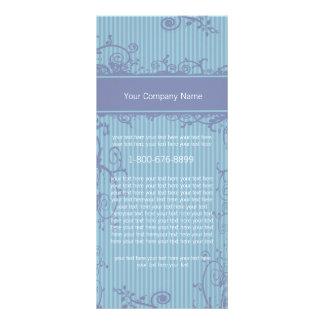 Etiqueta listrada azul do redemoinho do cartão da 10.16 x 22.86cm panfleto